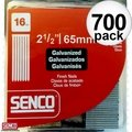 Senco A402509 700pk Galvanized Finish Nails 16 Gauge x 2-1/2""