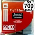 "Senco A402509 700pk Galvanized Finish Nails 16 Gauge x 2-1/2"" 5x"
