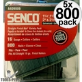 Senco A409809 800pk Galvanized Finish Nails 16 Gauge Variety Pack 5x