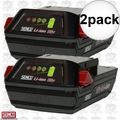 Senco VB0155 18V Li-ion Slim Pack Fusion Nailer Battery 2x
