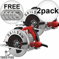 "Skilsaw SPT67M8-01 Left Hand South Paw Circular Saw 7-1/4"" w/ 3 Blades 2x"