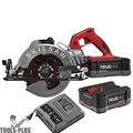 "Skilsaw SPTH77M-21 7-1/4"" TRUEHVL Cordless Worm Drive Saw w/2 Batts+Charger"