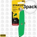 "Stanley 10-179 5-5/8"" High Visibility Retractable Utility Knife 3x"