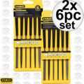 "Stanley 22-316 6pc Precision 5-1/2"" Hobby File Set 2x"