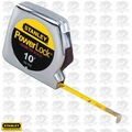 "Stanley 33-115 10' x 1/4"" PowerLock Pocket Tape Measure PLUS Diameter Scale"