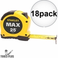 "Stanley 33-279 18pk 1-1/8"" x 25' MAX Tape Measure"