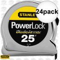 "Stanley 33-525 24pk 25' x 1"" PowerLock Tape Rule w/ Blade Armor Coating"