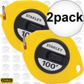 "Stanley 34-106 3/8"" x 100' Closed Long Tape Measure 2x"