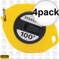 "Stanley 34-106 3/8"" x 100' Closed Long Tape Measure 4x"