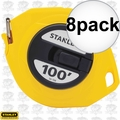 "Stanley 34-106 3/8"" x 100' Closed Long Tape Measure 8x"