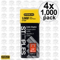 "Stanley CT106T 1000pk 3/8"" Round Crown Cable Staples 4x"