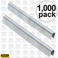"Stanley CT107T 1000pk 7/16"" Round Crown Cable Staples"