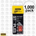 "Stanley CT109T 1000pk 9/16"" Round Crown Cable Staples"