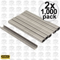 "Stanley TRA704SST 1000 Pack 1/4"" Stainless Steel Narrow Crown Staples 2x"
