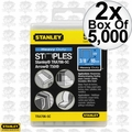 "Stanley TRA706-5C 5000pk 3/8"" Heavy Duty Narrow Crown Staples 2x"