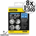 "Stanley TRA706-5C 5000pk 3/8"" Heavy Duty Narrow Crown Staples 8x"