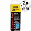 "Stanley TRA706SST 1000 Pack 3/8"" Stainless Steel Narrow Crown Staples 2x"