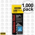 "Stanley TRA706SST 1000pk 3/8"" Stainless Steel Narrow Crown Staples"