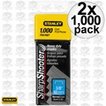 "Stanley TRA706T Box of 1000 3/8"" Heavy Duty Staples 2x"