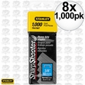 "Stanley TRA706T 1000pk 3/8"" Heavy Duty Staples 8x"