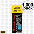 "Stanley TRA708SST 1000pk 1/2"" Stainless Steel Narrow Crown Staples"