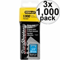 "Stanley TRA708T 1000pk 1/2"" Heavy Duty Staples 3x"