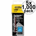 "Stanley TRA708T 1000pk 1/2"" Heavy Duty Staples 5x"