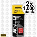 "Stanley TRC604T Box of 1000 1/4"" Wide Crown Heavy Duty Staples 2x"