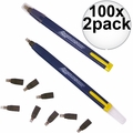 Swanson CP216 100x 2pk Always Sharp Refillable Carpenters Pencil 'Flat Type'