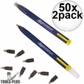 Swanson CP216 50x 2pk Always Sharp Refillable Carpenters Pencils 'Flat Type'