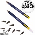 Swanson CP216 75x 2pk Always Sharp Refillable Carpenters Pencils 'Flat Type'