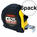 "Tajima G-25BW 1"" x 25' Shock Resistant Tape Measure 6x"
