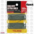 "Tajima PL-ITOL 16pk 100 ft .04"" Bold Braided Replacement Chalk Line"