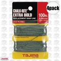 "Tajima PL-ITOL 100 ft .04"" Bold Braided Replacement Chalk Line 4x"