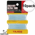 "Tajima PL-ITOS 100 ft .02"" Ultra Thin Braided Chalk Line 10x"