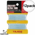 "Tajima PL-ITOS 100 ft .02"" Ultra Thin Braided Chalk Line 12x"