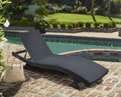 Cabana Outdoor Adjustable Wicker Chaise Lounge Chair - Armen Living LCCALOBL