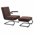 Father Lounge Chair & Ottoman in Vintage Brown - Zuo Modern 100406