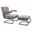 Father Lounge Chair & Ottoman in Vintage White - Zuo Modern 100407