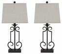 Signature Design Ainslie Metal Table Lamp (Set of 2) - Ashley Furniture L208034