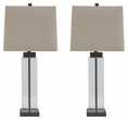 Signature Design Alvaro Glass Table Lamp (Set of 2) - Ashley Furniture L431374