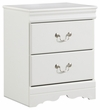 Signature Design Anarasia Two Drawer Night Stand - Ashley Furniture B129-92