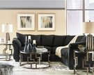 Signature Design by Ashley Darcy Sectional in Black Microfiber - Flash Furniture FSD-1109SEC-BLK-GG