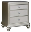 Signature Design Coralayne Three Drawer Night Stand - Ashley Furniture B650-93