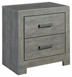 Signature Design Culverbach Two Drawer Night Stand - Ashley Furniture B070-92