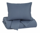 Signature Design Dietrick King Quilt Set in Blue - Ashley Furniture Q256043K