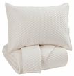 Signature Design Dietrick King Quilt Set in Ivory - Ashley Furniture Q256053K