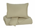 Signature Design Dietrick Queen Quilt Set in Sand - Ashley Furniture Q256013Q