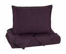 Signature Design Dietrick Queen Quilt Set in Plum - Ashley Furniture Q256033Q