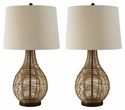 Signature Design Erwin Rattan Table Lamp (Set of 2) - Ashley Furniture L327224